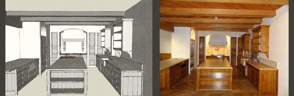 Hope Ranch Sketchup model / finished kitchen